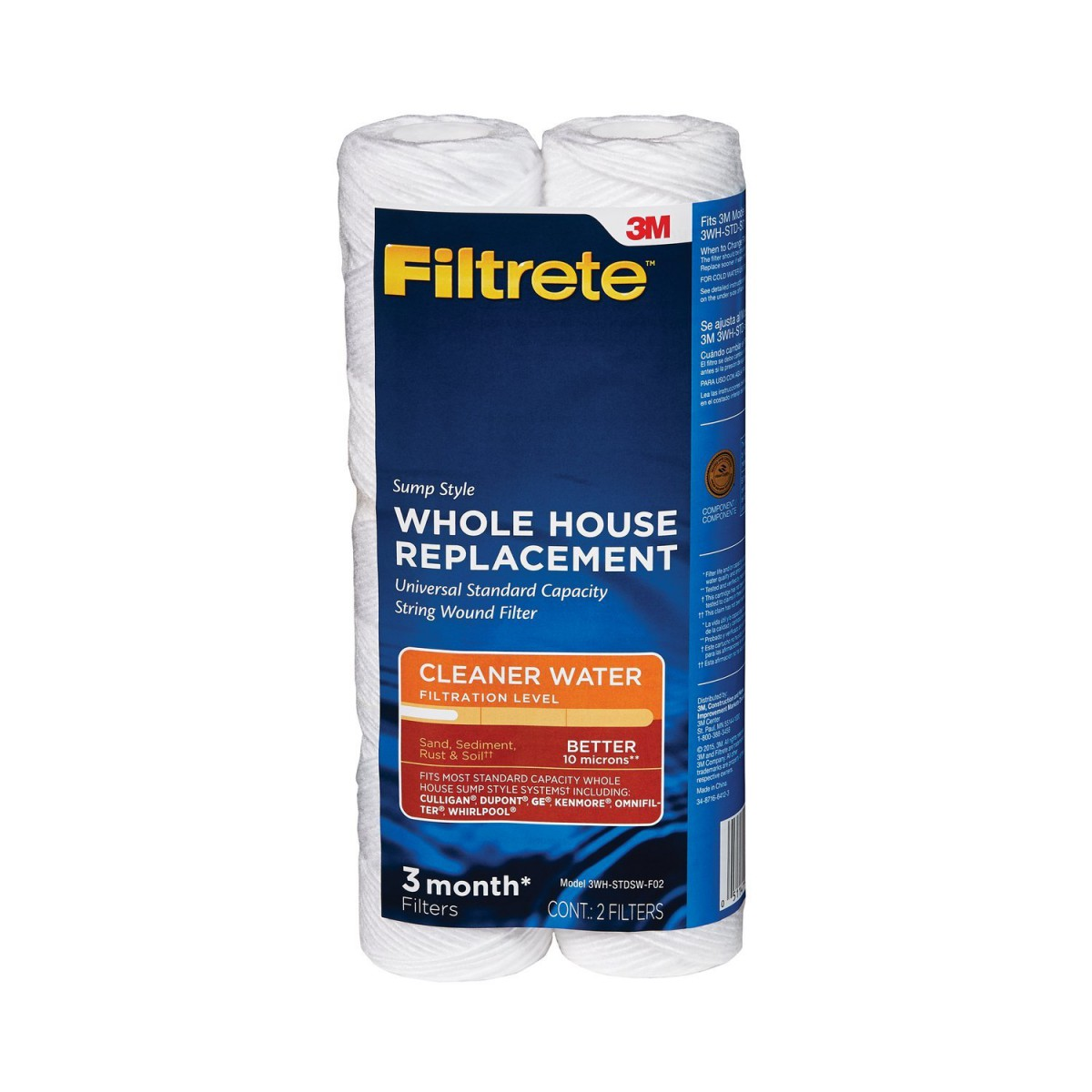 3wh Stdsw F02 3m Filtrete Water Filter 2pk