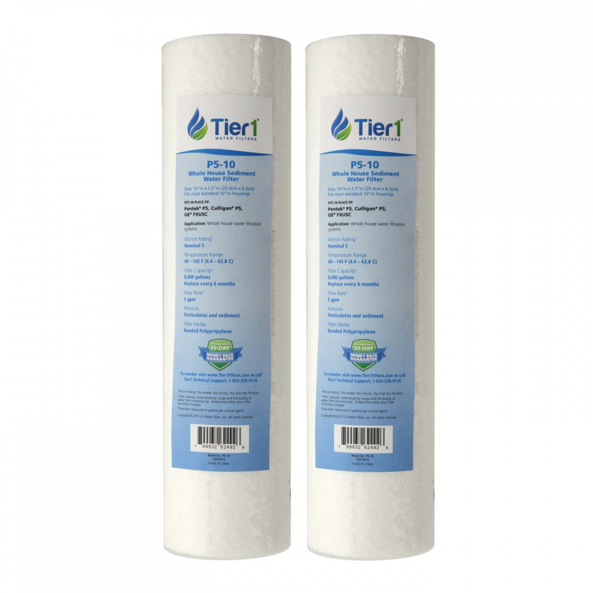 culligan whole house water filter. P5-D Culligan Comparable Whole House Filter Replacement Cartridge By Tier1 (2-Pack) Water