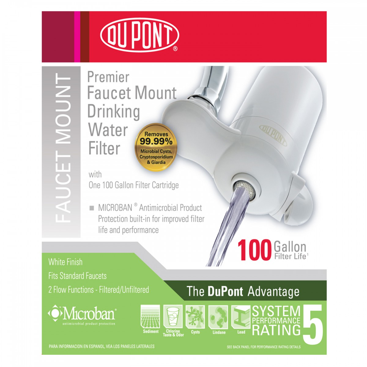 Dupont WFFM100XW Premier Faucet Mount Drinking Water Filter System