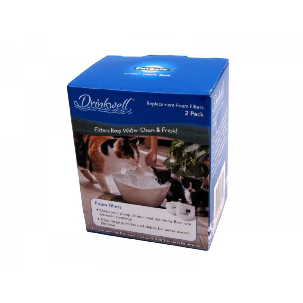 Drinkwell Pac00 13711 Pet Fountain Foam Filter 2 Pack