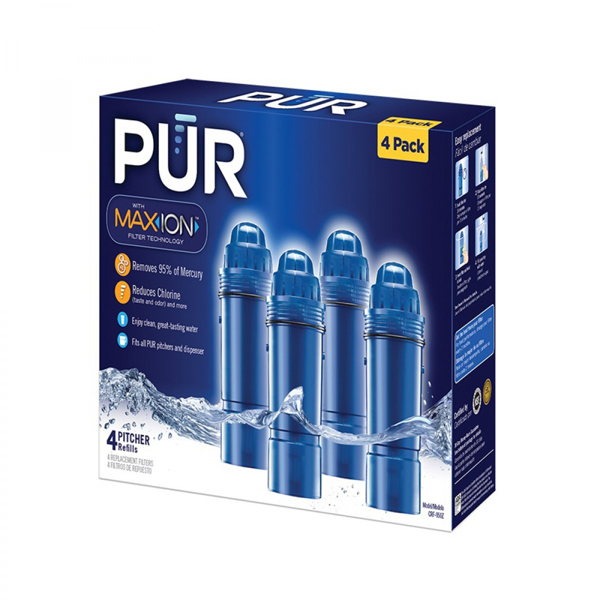 Pur Pitcher Replacement Water Filter 4 Pk Crf 950z 4