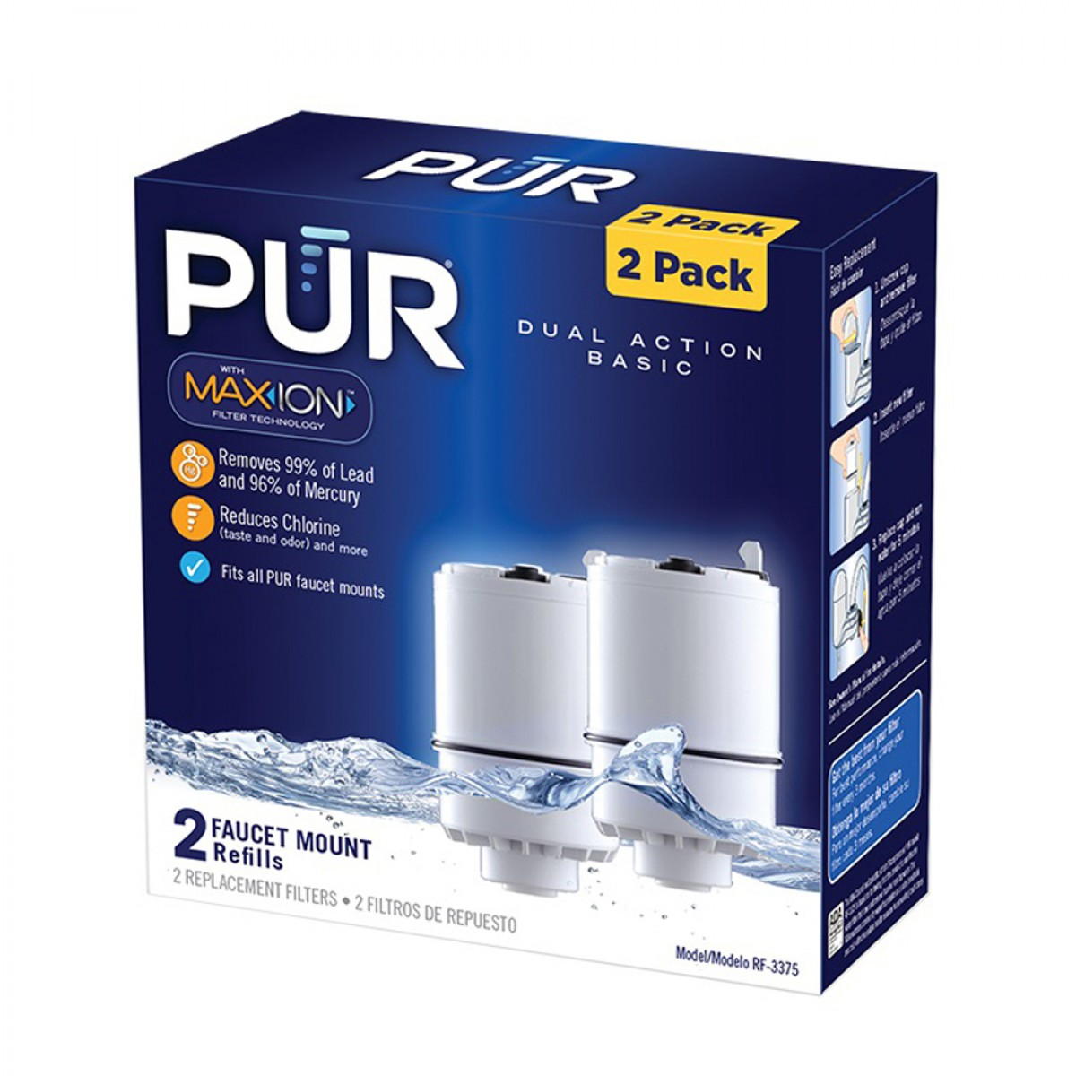 Pur Rf 3375 2 Vertical Faucet Mount Water Filter 2 Pk