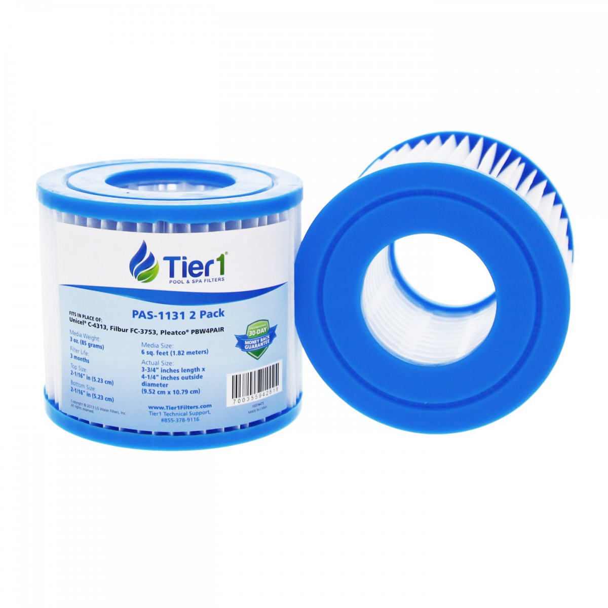 Tier1 Pas 1131 Replacement Pool And Spa Filter 2 Pack