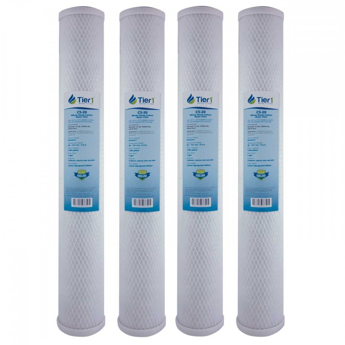 C1 20 Pentek Comparable Whole House Water Filter By Tier1