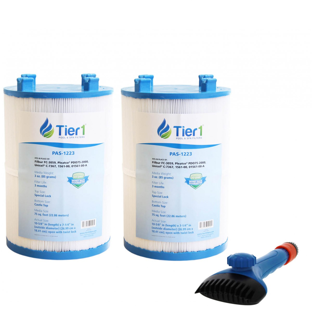 1561-00 Comparable Pool and Spa Filter (2-Pack) and Pool Filter ...