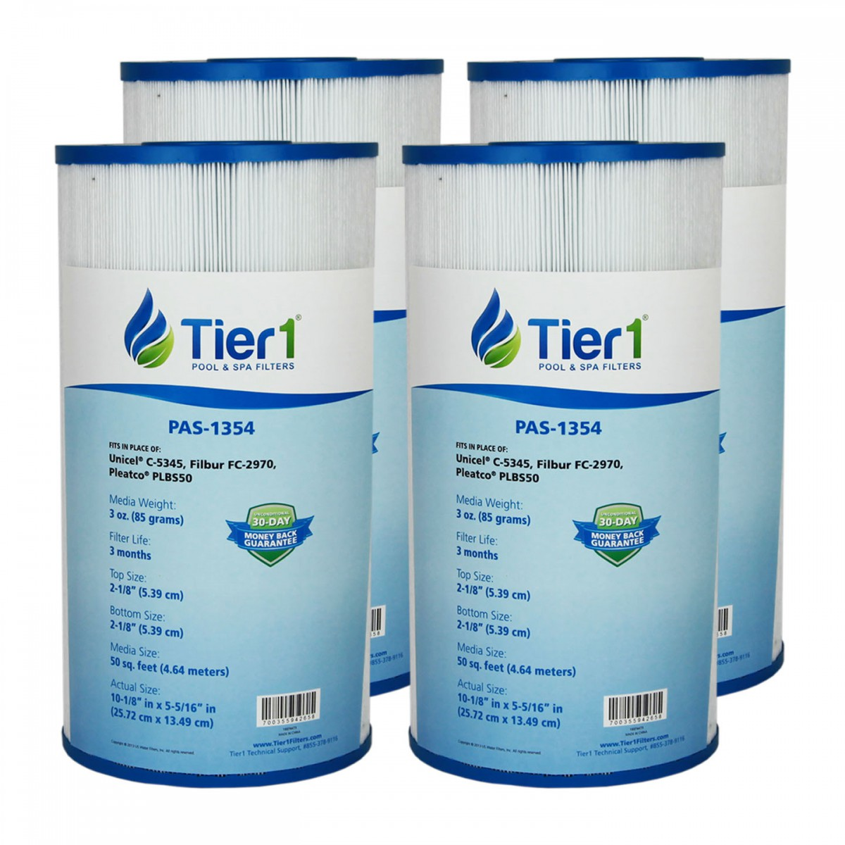2 Pack Pleatco PLBS50 Top Load Filter Cartridge Leisure Bay Dynasty Spas C-5345