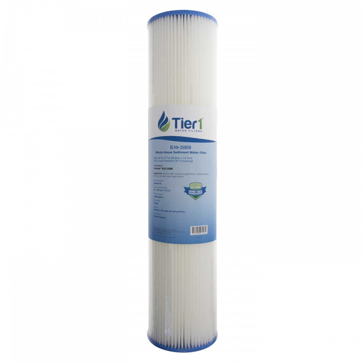 R30 20BB Pentek Comparable Whole House Sediment Water Filter by Tier1