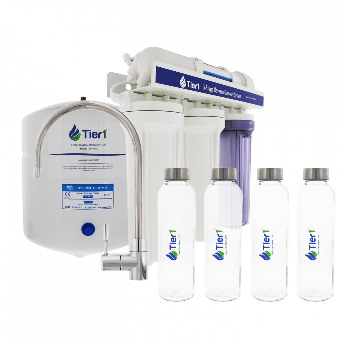 5 Stage Reverse Osmosis Home Drinking Water Filtration