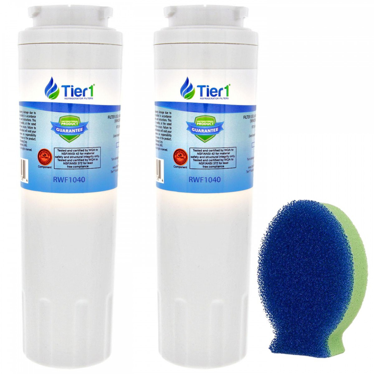EDR4RXD1 EveryDrop UKF8001 Maytag Comparable Refrigerator Water Filter and  DishFish (2 Pack) by Tier1