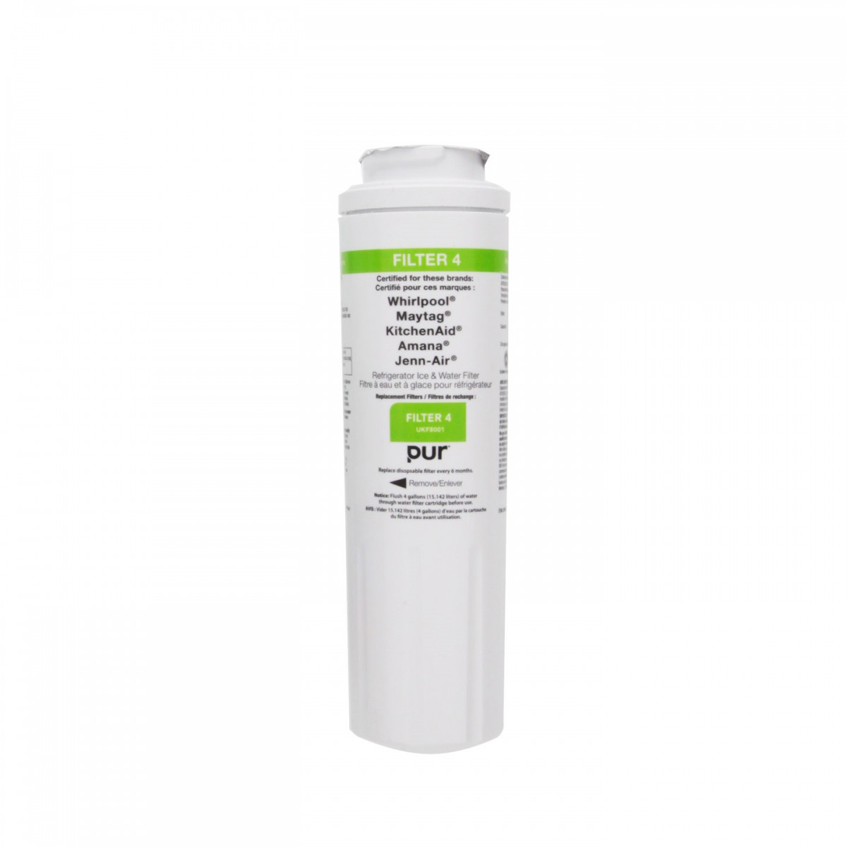 4396395 WHIRLPOOL Replacement Refrigerator Water Filter (front)