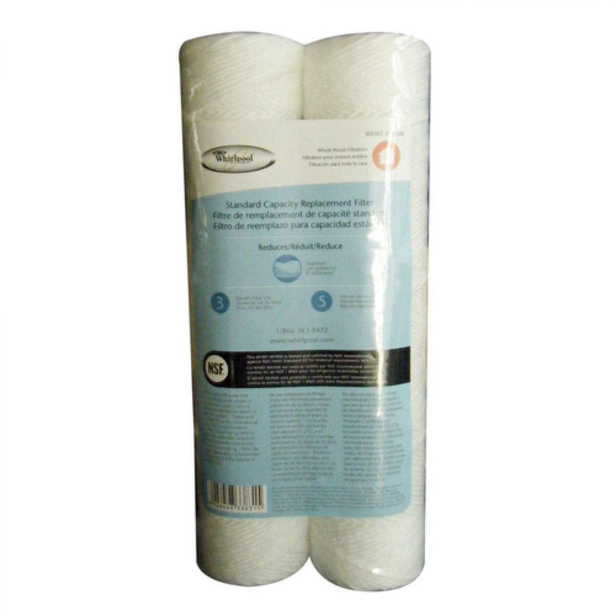 Whirlpool WHKF-WHSW Whole House Replacement Sediment Filter (2-Pack)