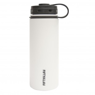 FiftyFifty V18001WH0 Vacuum Insulated Stainless Steel Water Bottle 18oz