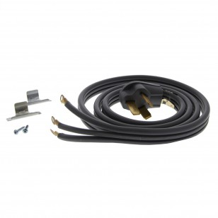 Gray 6-Foot 50 amp 3-Prong Range Power Cord by Tier1