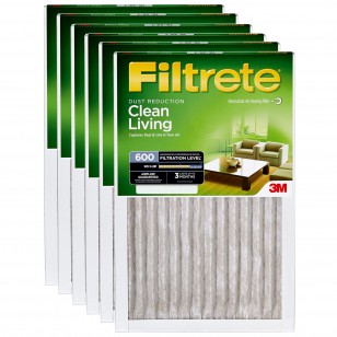 Filtrete 600 Dust and Pollen Filter - 20x20x1 (6-Pack)