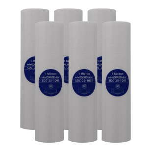 Hydronix SDC-25-1001 Replacement Filter Cartridge (6-Pack)