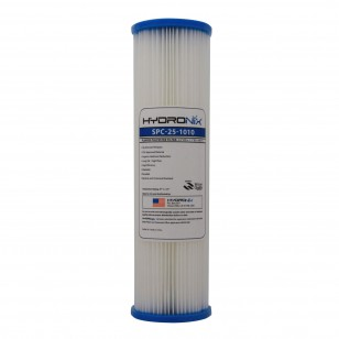 SPC-25-1010 Hydronix Pleated Sediment Water Filter