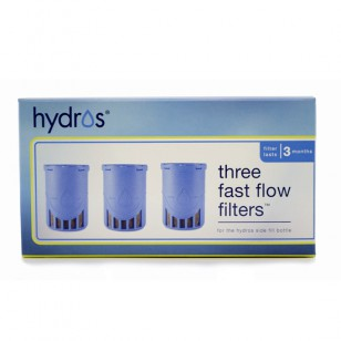HBSF-3FLT Hydros Fast-Flow Side-Fill Water Purifier Bottle Replacement Filter (3-Pack)