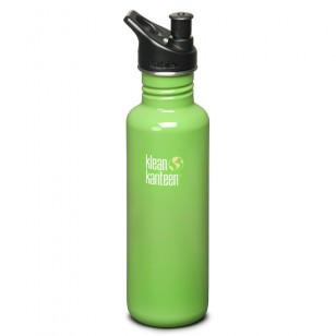 K27PPS-BG Klean Kanteen 27-Ounce Stainless Steel Water Bottle with Sport-Top - Be Green