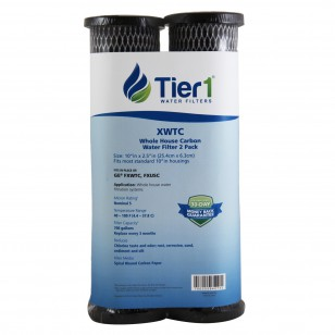 D-10 Twin Culligan Comparable Whole House Carbon Water Filter by Tier1