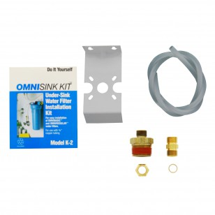 K2 OmniFilter Undersink Water Filter Installation Kit