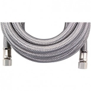 Braided SS 15-Foot 1/4-inch Compression Water Line Supply Connector by Tier1