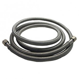 Braided SS 6-Foot 1/4-inch Compression Water Line Supply Connector by Tier1
