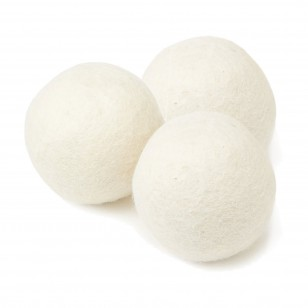HG-WOOL-DB Fabric Softening Wool Dryer Ball (3 Pack) by Tier1