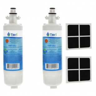 LT700P LG Comparable Refrigerator Water Filter by Tier1 (2 Filters) and LG LT120F Fresh Air Filter (2 Filters)