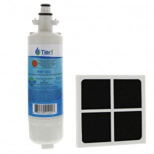 LT700P LG Comparable Refrigerator Water Filter and LG LT120F Fresh Air Replacement Filter by Tier1