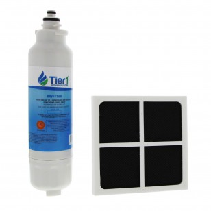 LT800P LG LT120F LG Comparable Refrigerator Water Filter and Air Filter Combo By Tier1