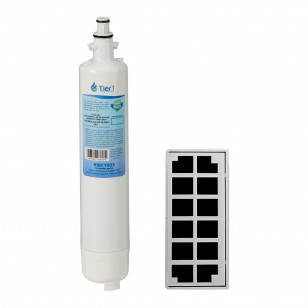 GE RPWF Comparable Refrigerator Water Filter with Odor Filter Comparable Refrigerator Air Filter Combo by Tier1