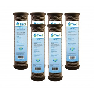 Pentek C1 Comparable Carbon Block Water Filter by Tier1 (6-Pack)