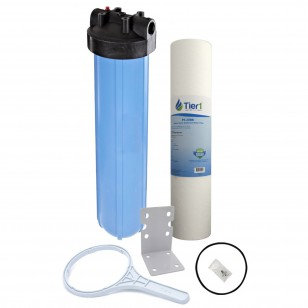 20 inch Big Polypropylene Filter Housing with Pressure Release and Sediment Filter Kit by Tier1 (Kit image)