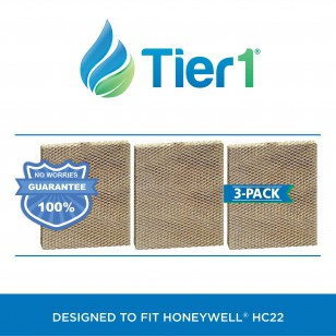 Honeywell HC22 Comparable Furnace Humidifier Water Panel by Tier1 (3-pack)