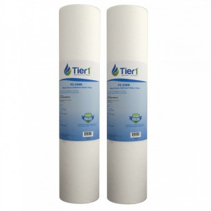 Pentek DGD-5005-20 Polypropylene Sediment Water Filter Replacement by Tier1 (2-Pack)