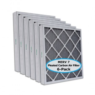 Tier1 P75S.622022D 20 x 22-1/4 x 2 Carbon Air Filter (6-pack)