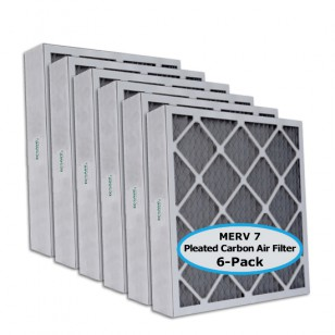 Tier1 P75S.642525 25x25x4 Carbon Air Filter (6-pack)
