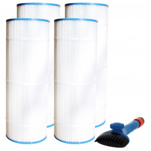 CX1100-RE Comparable Pool and Spa Filter (4-Pack) and Pool Filter Cleaning Brush by Tier1