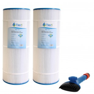 CX-1200-RE Comparable Pool and Spa Filter (2-Pack) and Pool Filter Cleaning Brush by Tier1