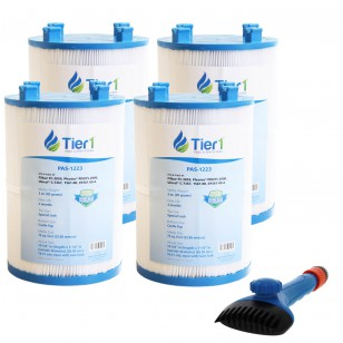 1561-00 Comparable Pool and Spa Filter (4-Pack) and Pool Filter Cleaning Brush by Tier1