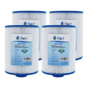Tier1 brand replacement filter for systems that use 5-inch diameter by 6 5/8-inch length filters (4-Pack) (With Labels)