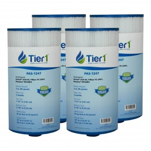 Tier1 brand replacement filter for systems that use 5 5/16-inch diameter by 10-inch length filters (4-Pack)