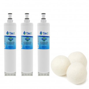 EDR5RXD1 EveryDrop 4396508/4396510 Whirlpool Comparable Refrigerator Water Filter and Fabric Softening Wool Dryer Ball (3 Pack) by Tier1