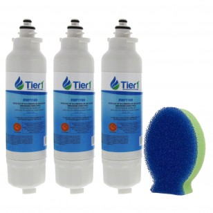 LT800P LG Comparable Refrigerator Water Filter and DishFish (3 Pack) by Tier1