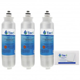 LT800P LG Comparable Refrigerator Water Filter Replacement (3-Pack) and Magic Cleaning Sponge (12-Pack) kit by Tier1