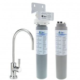 US-ST04 Tier1 Undersink Smart Tap System with Drinking Water Faucet PLUS Additional Filter Cartridge by Tier1