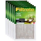 Filtrete 600 Dust Reduction Clean Living Filter - 20x30x1 (6-Pack)