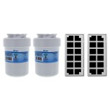 GE MWF & Odorfilter Comparable Refrigerator Water & Air Filter Combo 2-Pack by Tier1