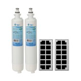 GE RPWF Comparable Refrigerator Water Filter with Odor Filter Comparable Refrigerator Air Filter Combo by Tier1 (2-Pack)