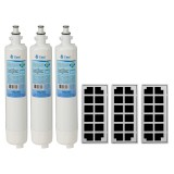 GE RPWF & Odorfilter Comparable Refrigerator Water & Air Filter Combo by Tier1 (3-Pack)